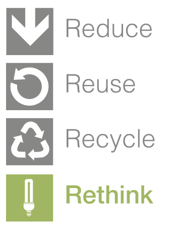 Reduce, Reuse, Recycle, Rethink