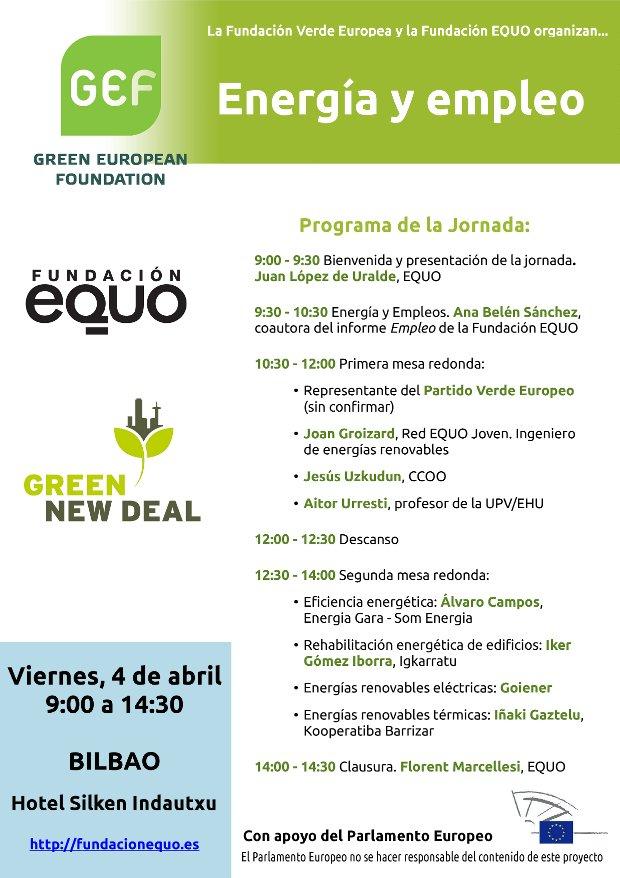 Jornadas Energía y Empleo. Fundación Verde Europea-Fundación EQUO