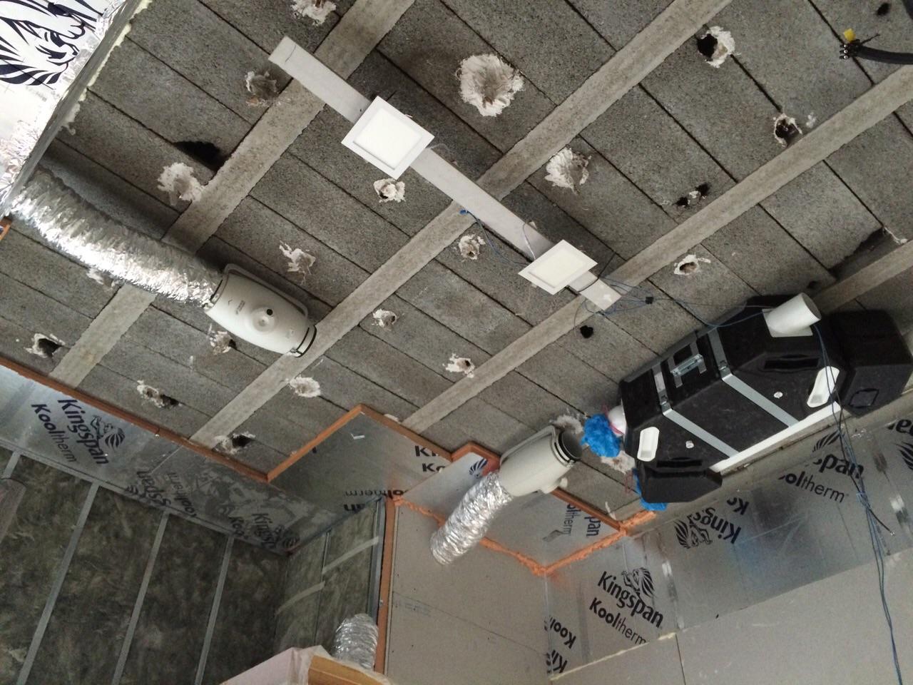 Sistema de ventilacion en reforma de local comercial