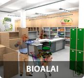 Para la asociación de consumo ecológico Bio Alai proyectamos uno de los locales comerciales de menor consumo energético de todo Euskadi; empleando Bioconstrucción en sus casi 660m2.