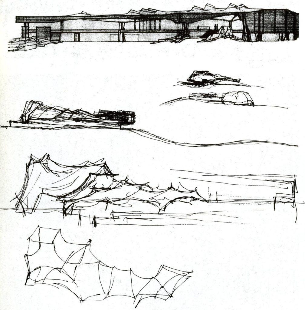 Arquitectura Finlandesa: Bocetos para Dipoli en Otaniemi.