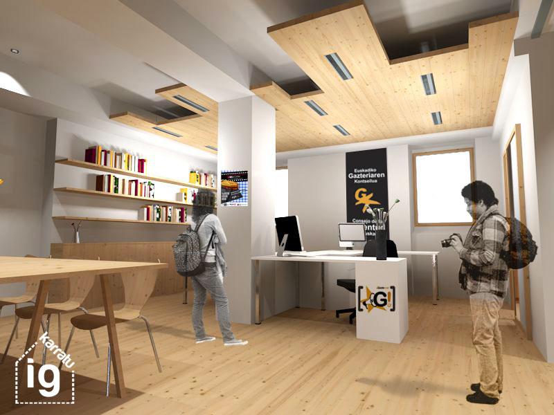 Reforma y mejora de la oficina y local de EGK: 20150420-EGK-Techo acústico