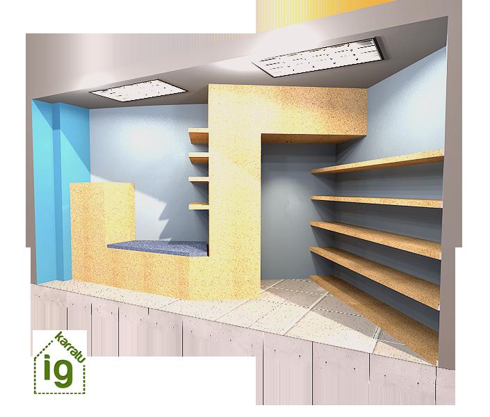 mueble de diseño en Vitoria : render 2 frontal