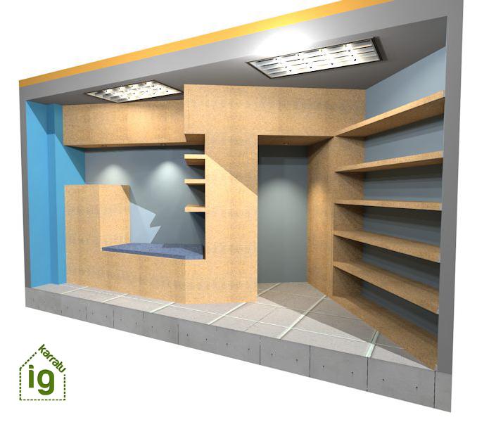 mueble de diseño en Vitoria : render paso 1