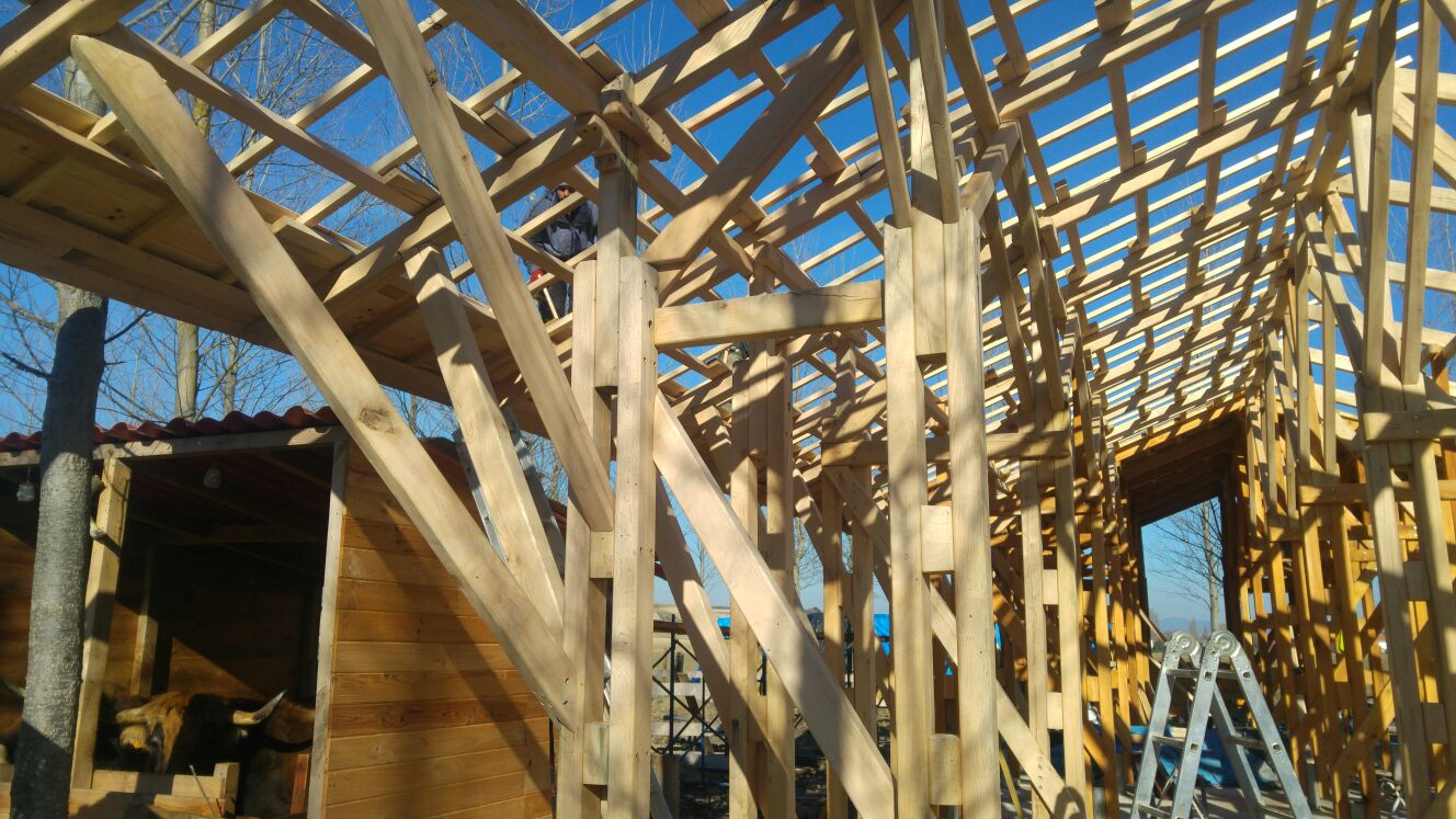 Interior de la estructura