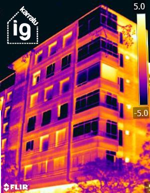 Termografía de la fachada, motivos para un SATE en Vitoria -Gasteiz: las pérdidas de calor y la falta de confort